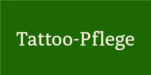 Tattoo-Pflege